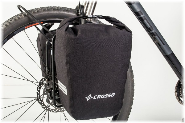Bagażnik rowerowy przedni crosso czarny