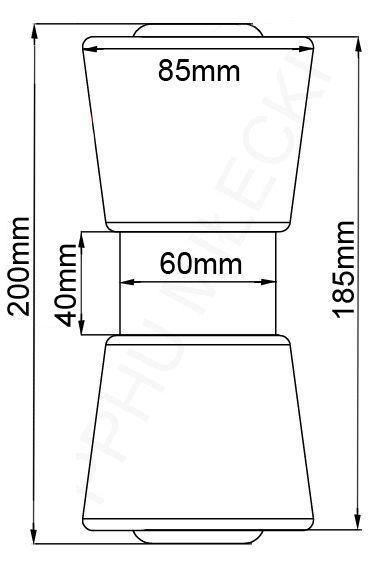 101980 rolka kilowa czarna brenderup